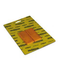 Rechteckstrahler gelb neu 90 x 40 mm