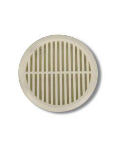 Lüftungsgitter für Sattelkammer, d43 mm, rund, weiß